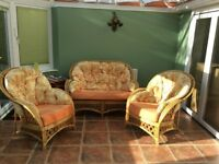 CONSERVATORY FURNITURE COMPRISING OF 1 TWO SEATER SETTEE AND 2 ARMCHAIR