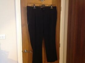 44 inches waist men's black trousers