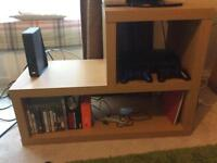 TV stand oak effect