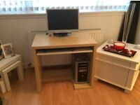 As new light wood and white desk in immaculate condition