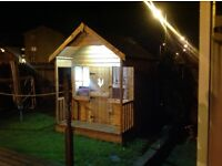 Large x2 level high quality kids play house,shed,tv