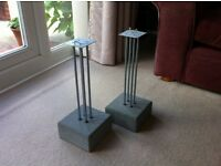 Industrial Look Concrete Base Speaker Stands