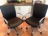 2 Black/Crome Beauty Theropy/ Office Swivel Chairs, adjustable height