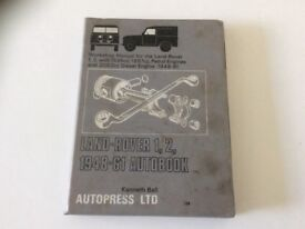 Workshop Manual for the Land Rover 1, 2, 1948-1961 Autobook by Kenneth Ball.