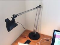 Black large desk light