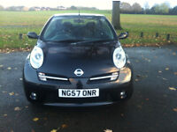 1 Lady Owner Nissan Micra (2007) C + Convertible Mot 2017 HPI Clear Alloys MINT - P/x Welcome