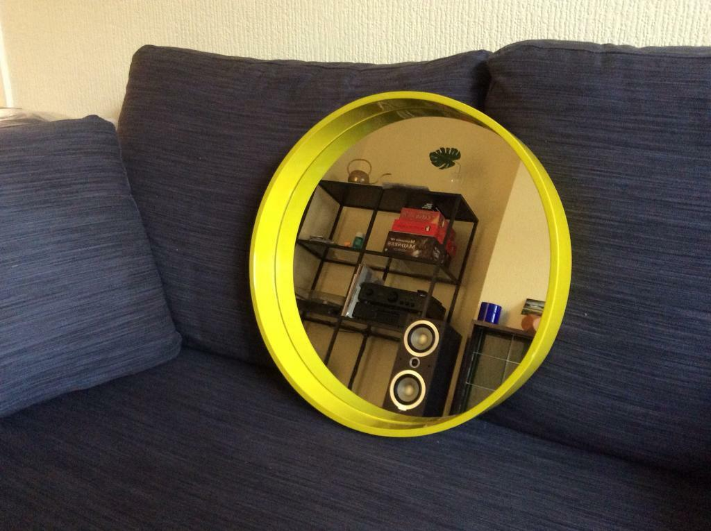 Habitat yellow Aimee mirror