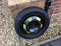 Space saver spare wheel and tyre, unused