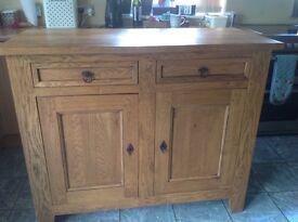 Beautiful solid oak hand crafted sideboard/cupboard