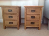 Pair of bedside tables - excellent quality and condition