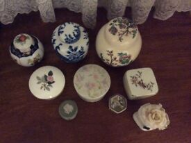 Ginger jars and trinket boxes collection