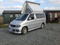 Lovely 4 berth Mazda Bongo 2L petrol with side and roof conversion