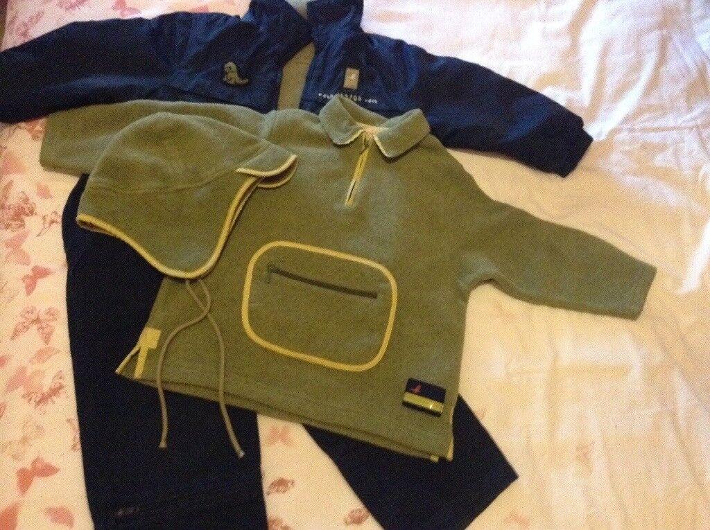 Boys catamini suit and coat