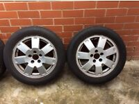 Mondeo alloys with tyres