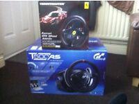 Thrustmaster T500RS wheel plus Ferrari 458 GTE wheel add-on