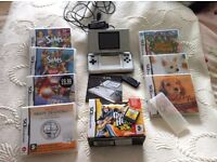 Nintendo DS with charger and lots of games