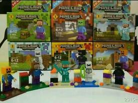 Minecraft Brand new complete set of 6 action figures