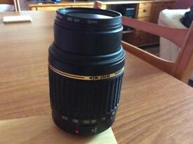 Tamron 55-250mm zoom lens
