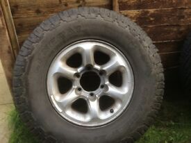 Mitsubishi 6 stud alloys/tyres