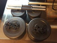 Set of weights for sale