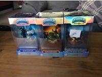 3x Skylanders Eons Elite Dino rang, ghost roaster & slam bam