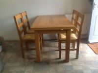 Kitchen table with four chairs