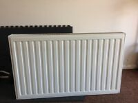 White radiator with brackets 100cm x 60cm approx