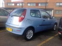 Fiat PUNTO ACTIVE 1.2 2006 only 83000 miles MOT ONE YEAR upon sale blue metallic 3 door