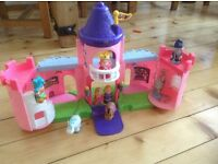Little people castle and happyland figures
