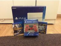 PS4 With 2 Controllers And 2 Games (Rarely Used)