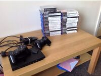 PS2 with 2 Pads, 30 Games, All Wires