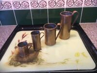 Vintage French Brass Kitchen measures ( set of 4 )
