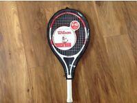Roger Federer Wilson Junior Tennis Racquet. 25'. Brand new with case.