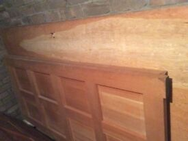 Hardwood Panelled and Carved Doors for Sale