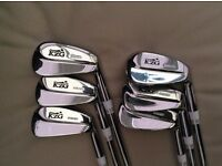KZG Forged Blade Golf Irons 5 – PW KBS Tour V Stiff Flex Shafts new condition only played one round