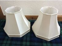 Lamp shade x2 cream silk