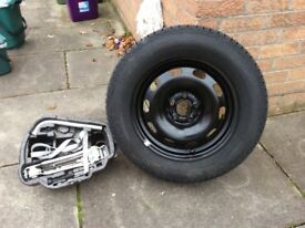 VW Golf tyre and jack kit. Both have never been used