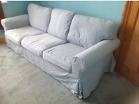 Ikea 3-seater blue sofa good condition