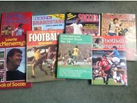 Score a great bargain with these 70's and 80's Football Annuals and football books