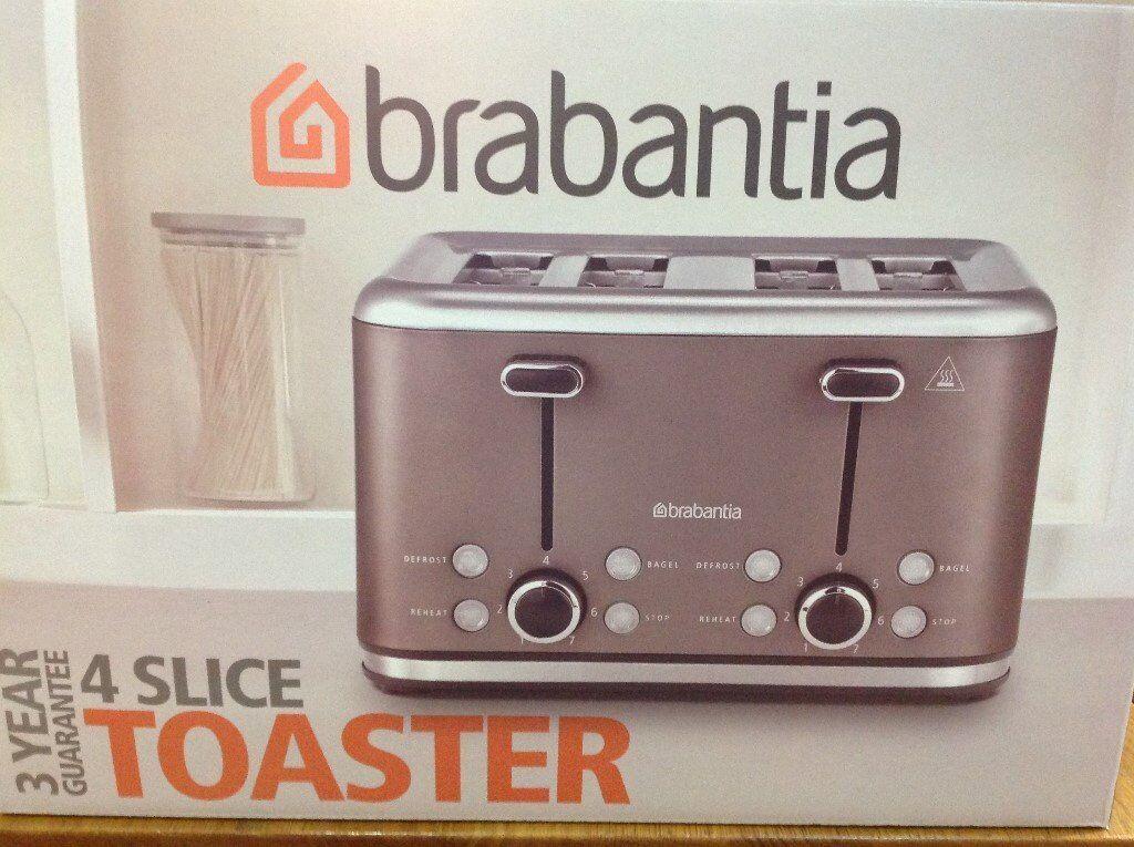 Brabantia 4 slice toaster.