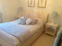Real leather double bed base frame