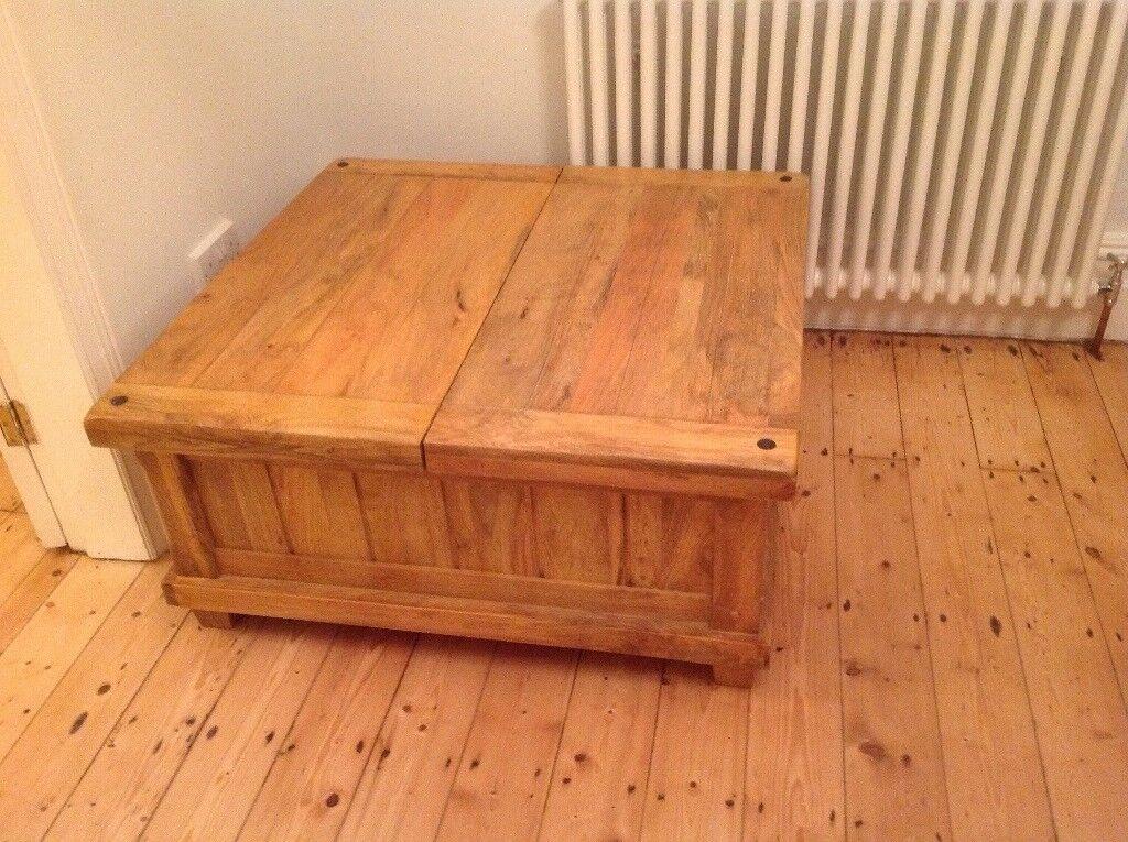 Oak furniture land Baku Light Natural Solid Mango Blanket Box/ trunk