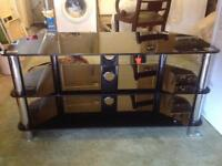 Television Glass Three Tier Table
