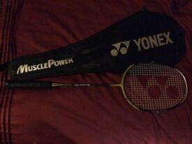 Yonex carbon fibre badminton racquet with case