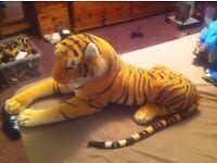 large stuffed tiger £9