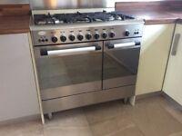 Baumatic dual fuel range cooker oven