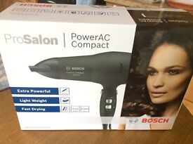 Unopened brand new unwanted gift. Bosch PHD9940 hairdryer. Cost £60 new.