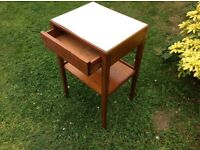 Vintage retro remploy bedside cabinet military issue