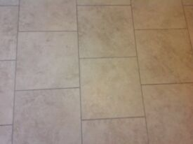 Amtico Crema Travertine Floor Tiles