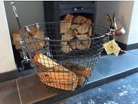 Wire log basket